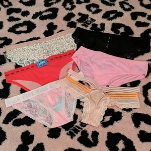 Lot of 6 PINK and Victoria's Secret Panties